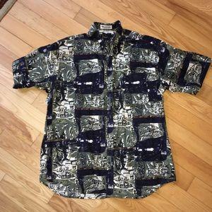 Men's Columbia Button Down T-Shirt